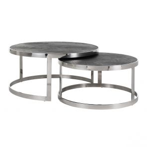 Richmond - Salontafel Blackbone Silver - Set Van 2