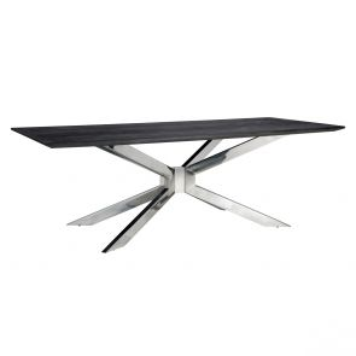Richmond - Eettafel Blackbone Matrix Silver 240x100 cm