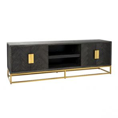 Richmond - TV-dressoir 185 Blackbone gold 4-deuren