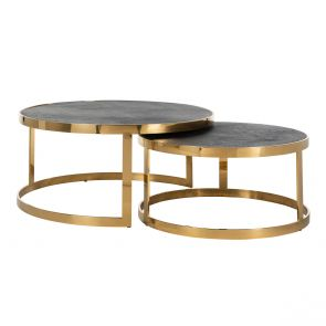 Richmond - Salontafel Blackbone Gold - Set Van 2