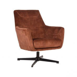Fauteuil Toby Rust Velours 1