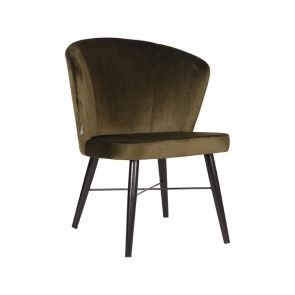 Fauteuil Wave 64x68x79 Army Fluweel