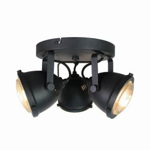 LED Spot Moto 3-lichts Zwart 1