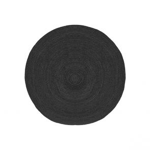 Vloerkleed Jute Zwart Jute 120 cm 1