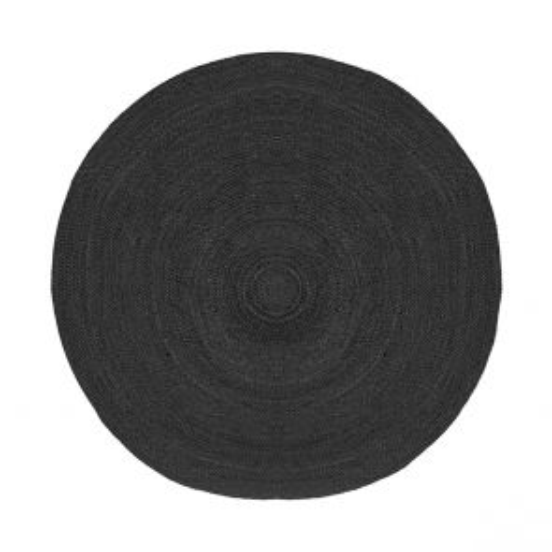 Vloerkleed Jute Zwart Jute 180 cm 1