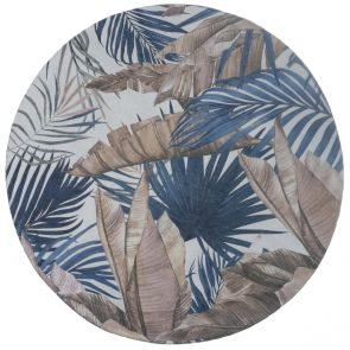Vloerkleed Palm Blue Rond ø200 cm